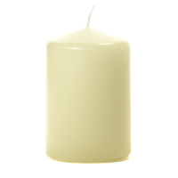 Ivory 3 X 4 Unscented Pillar Candles