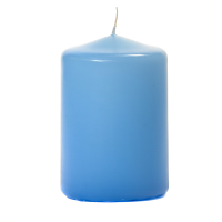 Light Blue 3 X 4 Unscented Pillar Candles