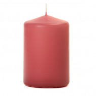 Mauve 3 x 4 Unscented Pillar Candles