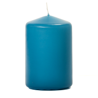 Mediterranean Blue 3 X 4 Unscented Pillar Candles