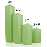 Mint green 3 x 4 Unscented Pillar Candles
