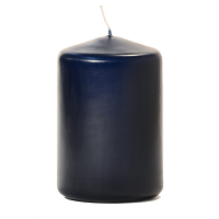 Navy 3 X 4 Unscented Pillar Candles