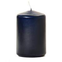Navy 3 X 4 Unscented Pillar Candles