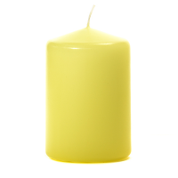 Pale Yellow 3 X 4 Unscented Pillar Candles
