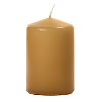 Parchment 3 X 4 Unscented Pillar Candles