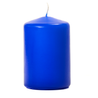 Royal Blue 3 X 4 Unscented Pillar Candles