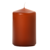Terracotta 3 X 4 Unscented Pillar Candles
