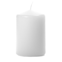 White 3 X 4 Unscented Pillar Candles