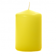 Yellow 3 X 4 Unscented Pillar Candles