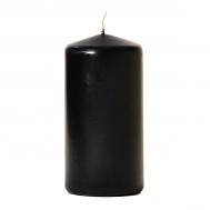 Black 3 x 6 Unscented Pillar Candles