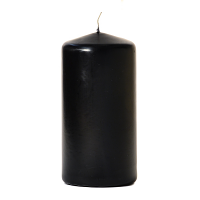 Black 3 x 6 Unscented Pillar Candles