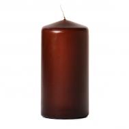 Brown 3 x 6 Unscented Pillar Candles