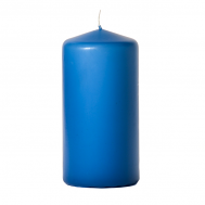 Colonial blue 3 x 6 Unscented Pillar Candles
