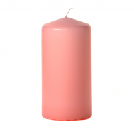 Dusty pink 3 x 6 Unscented Pillar Candles