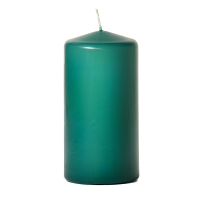 Forest green 3 x 6 Unscented Pillar Candles