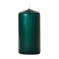 Hunter green 3 x 6 Unscented Pillar Candles