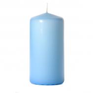 Light blue 3 x 6 Unscented Pillar Candles