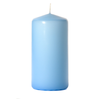 Light blue 3 x 6 Unscented Pillar Candles