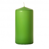 Lime green 3 x 6 Unscented Pillar Candles