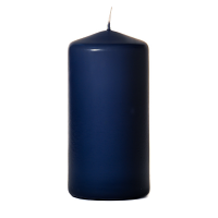 Navy 3 x 6 Unscented Pillar Candles