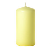 Pale yellow 3 x 6 Unscented Pillar Candles