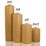 Parchment 3 x 6 Unscented Pillar Candles