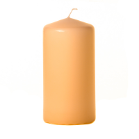 Peach 3 x 6 Unscented Pillar Candles