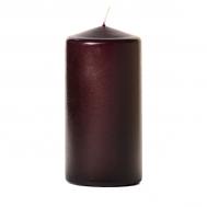 Plum 3 x 6 Unscented Pillar Candles