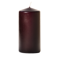 Plum 3 x 6 Unscented Pillar Candles
