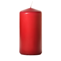 Raspberry 3 x 6 Unscented Pillar Candles