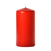Red 3 x 6 Unscented Pillar Candles
