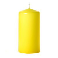Yellow 3 x 6 Unscented Pillar Candles