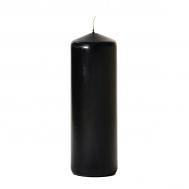 Black 3 x 9 Unscented Pillar Candles