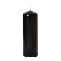Black 3 x 9 Unscented Pillar Candles