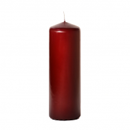 Burgundy 3 x 9 Unscented Pillar Candles