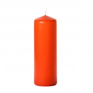 Burnt orange 3 x 9 Unscented Pillar Candles