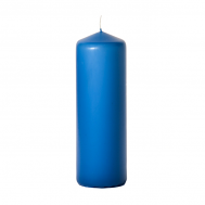 Colonial blue 3 x 9 Unscented Pillar Candles