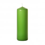 Lime green 3 x 9 Unscented Pillar Candles