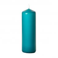 Mediterranean blue 3 x 9 Unscented Pillar Candles