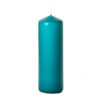 Mediterranean blue 3 x 9 Unscented Pillar Candles