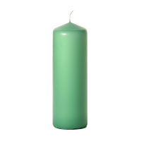 Mint green 3 x 9 Unscented Pillar Candles