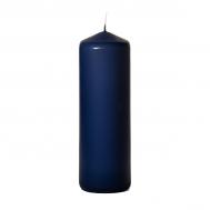 Navy 3 x 9 Unscented Pillar Candles