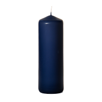Navy 3 x 9 Unscented Pillar Candles