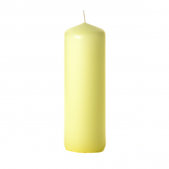 Pale yellow 3 x 9 Unscented Pillar Candles