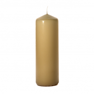 Parchment 3 x 9 Unscented Pillar Candles