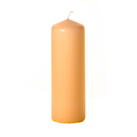 Peach 3 x 9 Unscented Pillar Candles