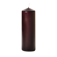 Plum 3 x 9 Unscented Pillar Candles