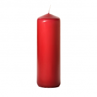 Raspberry 3 x 9 Unscented Pillar Candles