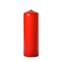 Red 3 x 9 Unscented Pillar Candles