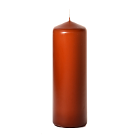 Terracotta 3 x 9 Unscented Pillar Candles